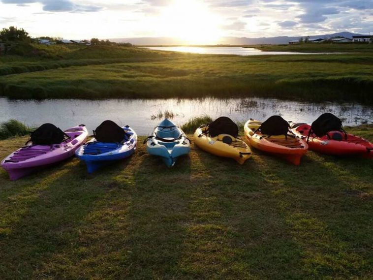 Kayaks in Iceland