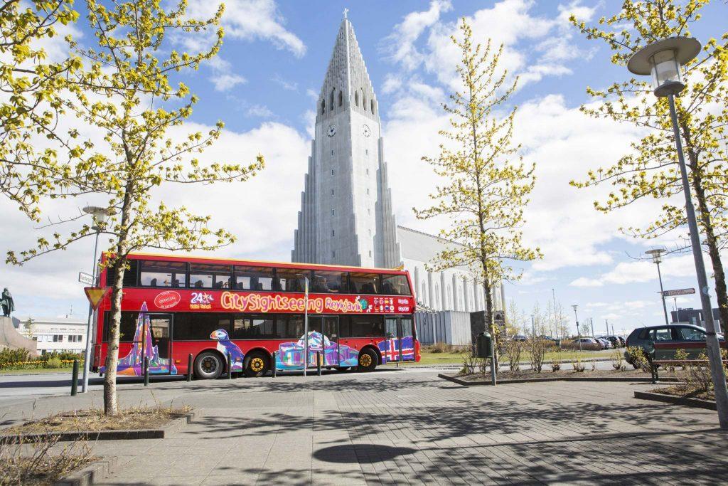 hop on hop off, Reykjavik Iceland