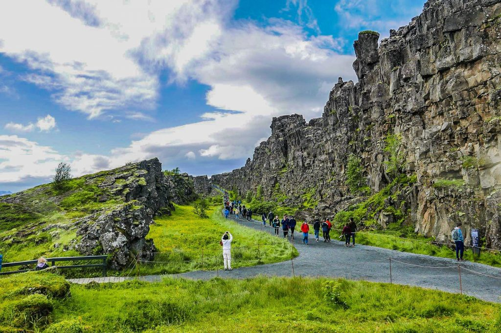 Thingvellir National Park in South Iceland