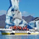 Glacier laggon boat tour in Iceland