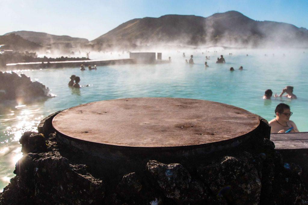 blue lagoon hot spring near reykjavik