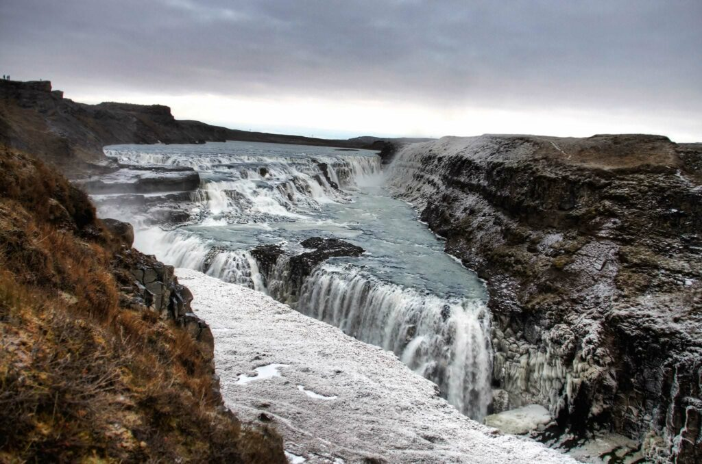 This is Gullfoss one of Iceland's most famous waterfalls.