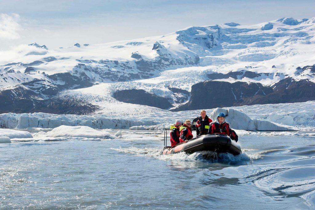 Boat ride on glacier lagoon