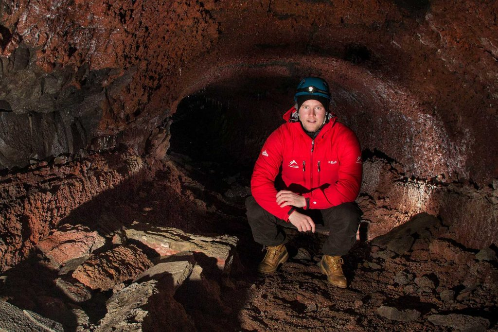 Caving in Iceland