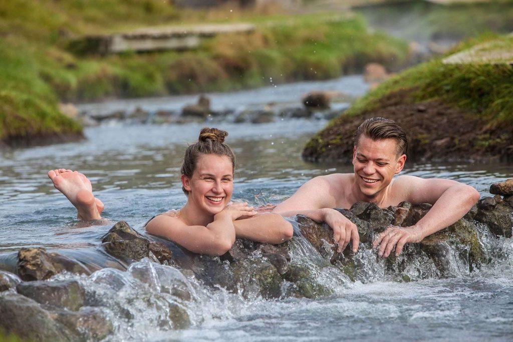 Geothermal pool Reykjadalur