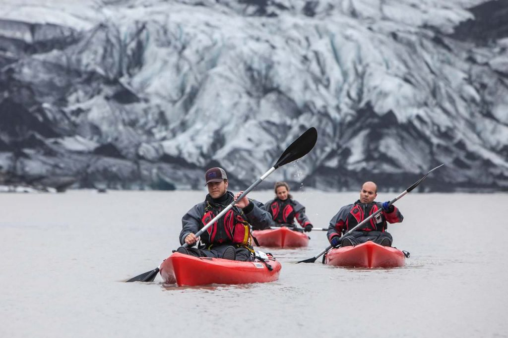 Glacier kayaking Solheimajokull
