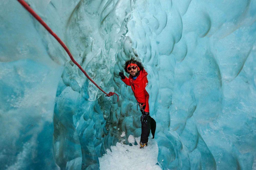 Ice caving in Skaftafell