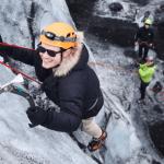 Solheimajokull glacier ice climbing